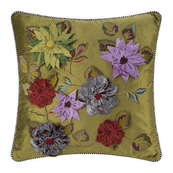 Greengage Floral Pillow - 50x50cm