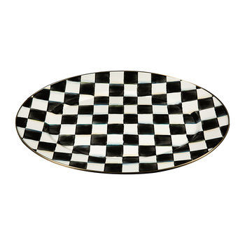 Courtly Check Enamel Oval Platter - Medium