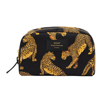 Black Leopard Cosmetic Bag