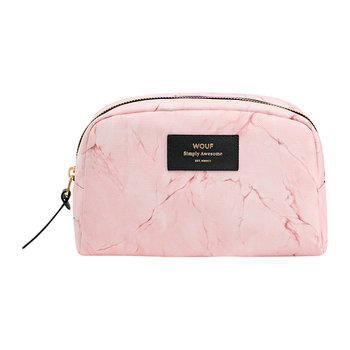 Marble Cosmetic Bag - Pink