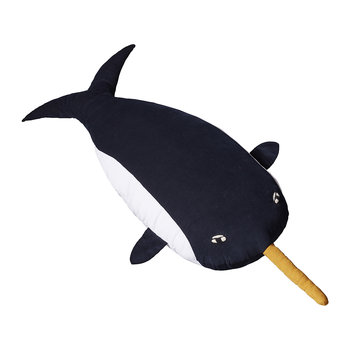 Knitted Lambswool Creature - Nervous Narwhal