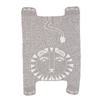 Lion Shaped Mini Blanket - Gray