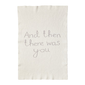 Then There Was You Mini Blanket - Grey