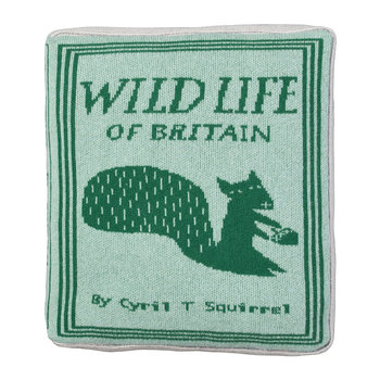 Book Cover Shaped Pillow - 42x42cm - Wildlife