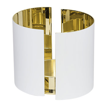 Infinity Candle Holder - White