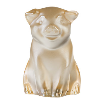 Pig Sculpture - Gold Luster
