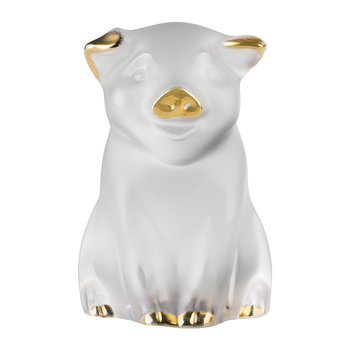 Pig Sculpture - Clear & Gold