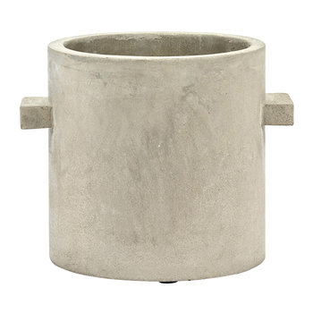 Concrete Round Pot - Gray