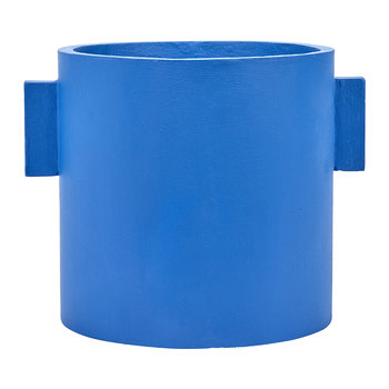 Concrete Round Pot - Blue