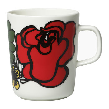 Elakoon Elama Mug - Small - White/Red/Pink