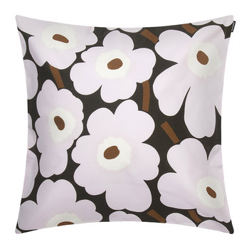 Pieni Unikko Pillow Cover - 50x50cm - Dark Green/Pink
