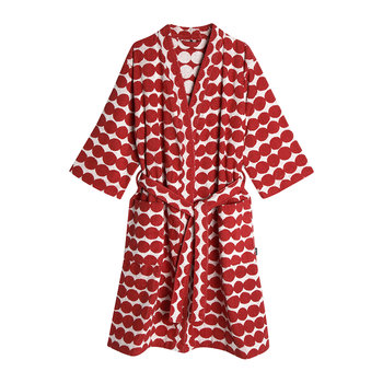 Rasymatto Bathrobe - White/Red
