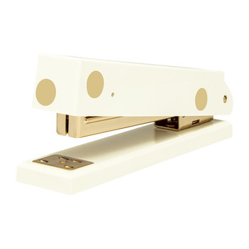 Cream and Gold Dot Stapler