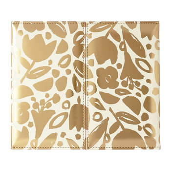 Desktop Weekly Calendar and Folio - Golden Floral