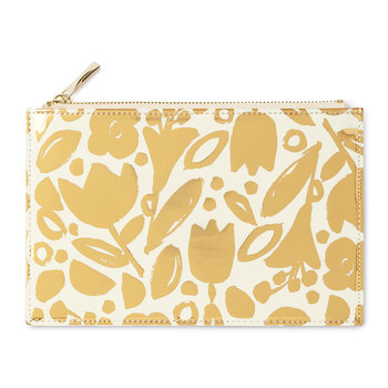 Pencil Pouch - Golden Floral
