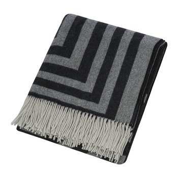 1828 Fringed Blanket - Black