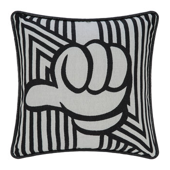 Anniversary Design Thumbs Up Pillow - 50x50cm - Black