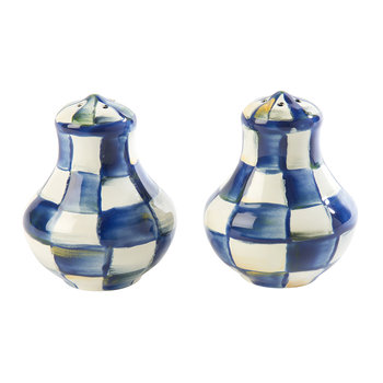 Royal Check Salt and Pepper Shakers