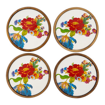 Flower Market Coasters - Set of Four