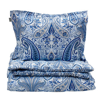 Key West Paisley Duvet Cover - Capri Blue