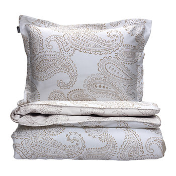 Shadow Paisley Duvet Cover - Dry Sand
