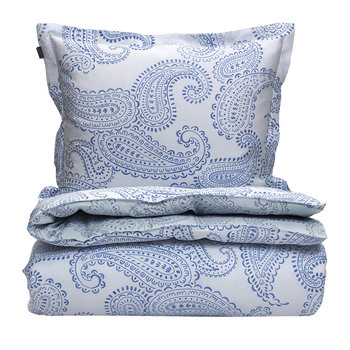 Shadow Paisley Duvet Cover - Capri Blue