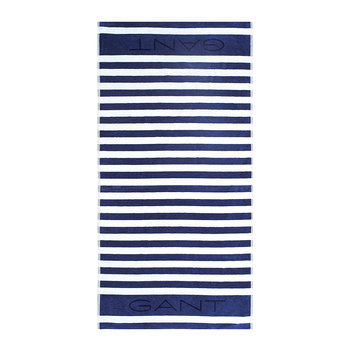 Rugby Beach Towel - 100x180 - Poseidon Blue