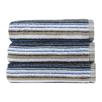 Barcode Stripe Towel - Blue