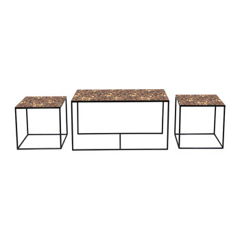 Tortoise Trinity Coffee Table - Set of Three
