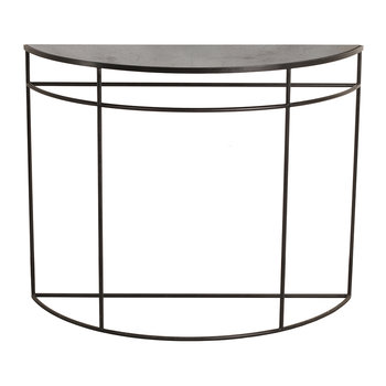 Half Moon Heavy Aged Console - Charcoal