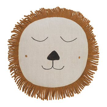 Lion Safari Cushion - Natural