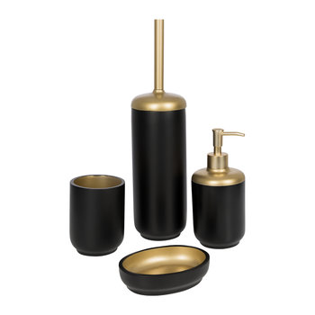 Black & Gold Resin Toilet Brush