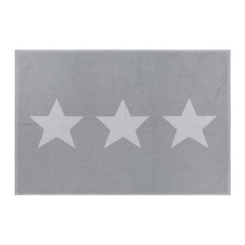 Star Bath Mat - Grey