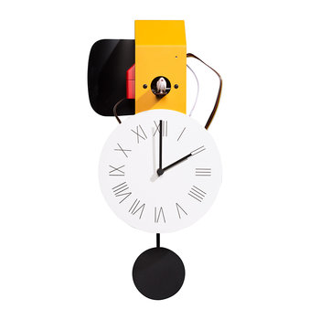 Attimo Cucù Clock - Yellow Dalia/Black