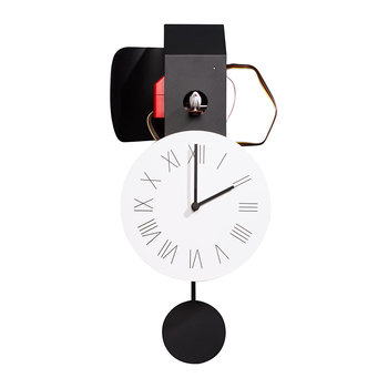 Attimo Cucù Clock - Black/Red