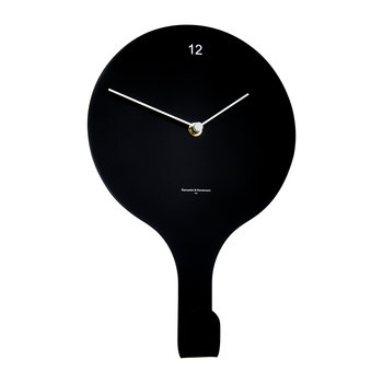 En Suspend Lacquered Wall Clock - Black