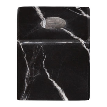 Marble Candle Block - Black