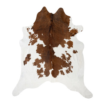 Spotted Cowhide Rug - Brown/White