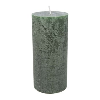 Rustic Pillar Candle - Olive