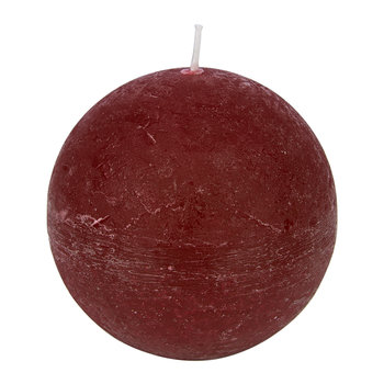 Rustic Spherical Candle - Vintage Red