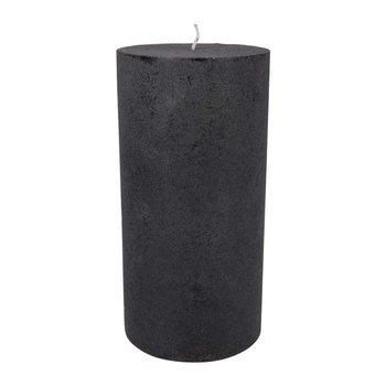Velvet Pillar Candle - Beluga Gray