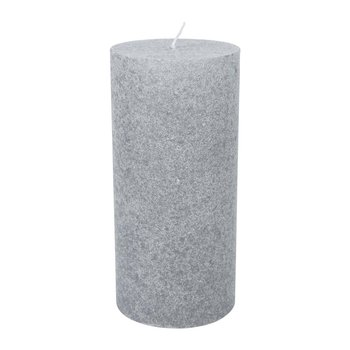 Velvet Pillar Candle - Mouse Grey