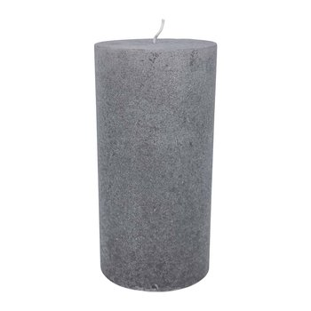 Velvet Pillar Candle - Mouse Gray