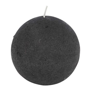 Velvet Spherical Candle - Beluga Gray