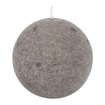 Velvet Spherical Candle - Taupe