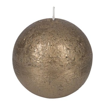 Rustic Metal Spherical Candle - Gold