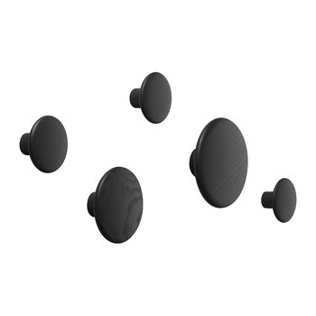 The Dots Coat Hook - Set of 5 - Black