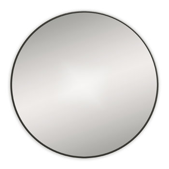 Round Framed Mirror - 60cm - Black