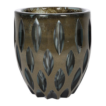 Petal Effect Glass Vase