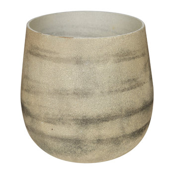 Tornadic Glass Votive - Cream
